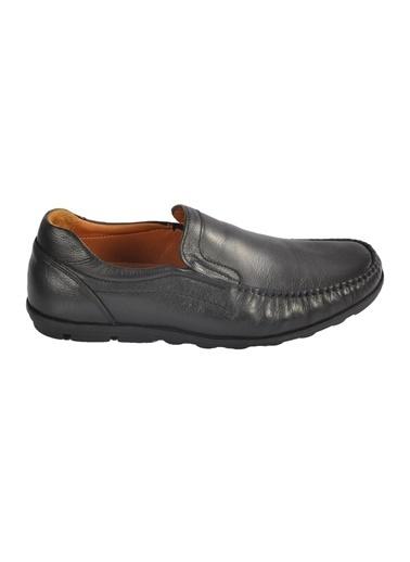 Ayakmod 9104 Hakiki Deri Siyah Erkek Günlük Ayakkabı Siyah